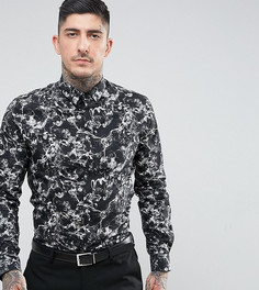 Строгая рубашка скинни с принтом Noose & Monkey - Черный
