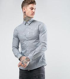Строгая рубашка скинни с принтом Noose & Monkey - Серый