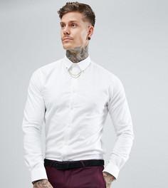 Облегающая рубашка с цепочкой Noose & Monkey - Белый