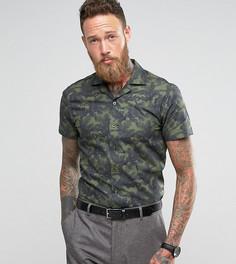Узкая рубашка с короткими рукавами и отложным воротником Noose & Monkey - Зеленый