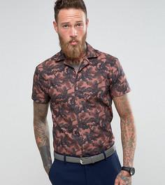 Узкая рубашка с короткими рукавами и отложным воротником Noose & Monkey - Розовый