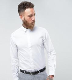 Строгая приталенная рубашка с остроконечным воротником Noose & Monkey - Белый