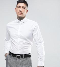 Приталенная рубашка со срезанным воротником Noose & Monkey - Белый