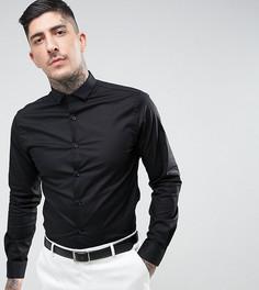Приталенная рубашка со срезанным воротником Noose & Monkey - Черный