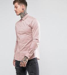Строгая приталенная рубашка с остроконечным воротником Noose & Monkey - Розовый