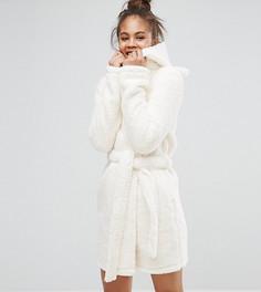 Пушистый халат с ушами ASOS TALL - Кремовый