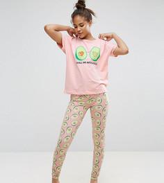 Пижамный комплект из футболки и леггинсов с принтом ASOS TALL - Мульти