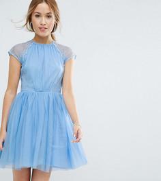 Платье мини для выпускного ASOS PETITE PREMIUM - Синий