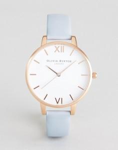 Часы с синим кожаным ремешком и большим циферблатом Olivia Burton OB16BDW18 - Синий