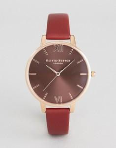 Часы с кожаным ремешком Olivia Burton OB16BD106 - Красный