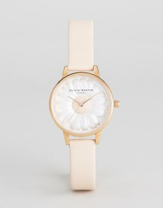Часы с розовым кожаным ремешком Olivia Burton OB16FS87 - Розовый