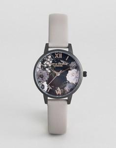 Часы с кожаным ремешком Olivia Burton OB16AD24 - Серый