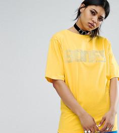 Свободная футболка с логотипом Bones - Желтый