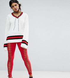 Леггинсы со шнуровкой Bones - Красный