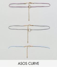 3 ожерелья-чокер эксклюзивно для ASOS CURVE - Мульти