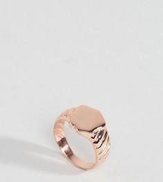 Серебряное кольцо с покрытием из розового золота ASOS - Медный