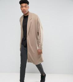 Длинная оversize-куртка из трикотажа ASOS TALL - Бежевый