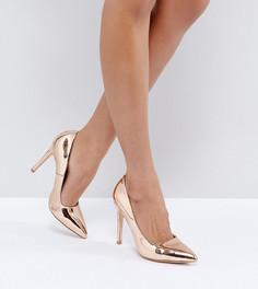 Туфли-лодочки для широкой стопы на каблуке Truffle Collection - Медный