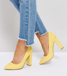Туфли на каблуке для широкой стопы с острым носком ASOS PHANTOM - Желтый