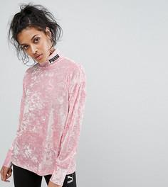 Бархатный свитшот Puma эксклюзивно для ASOS - Розовый