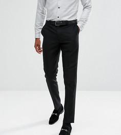 Фланелевые брюки суженного книзу кроя Noak TALL - Черный