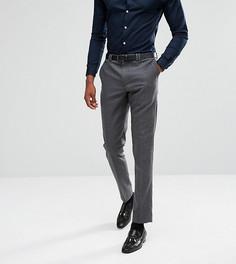 Фланелевые брюки суженного книзу кроя Noak TALL - Серый