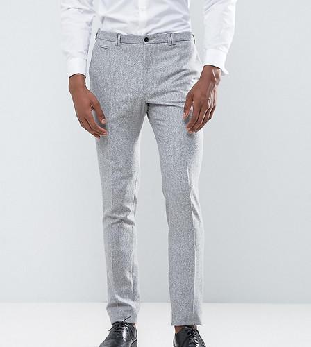 Зауженные брюки из донегаля в крапинку Noak TALL - Серый