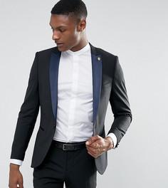 Супероблегающий пиджак-смокинг Noose & Monkey TALL - Черный