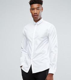 Приталенная рубашка с остроконечным воротником Noak TALL - Белый