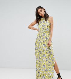 Платье макси с цветочным принтом Missguided - Желтый