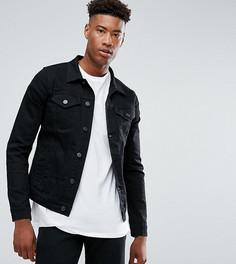 Джинсовая куртка Selected Homme TALL - Черный
