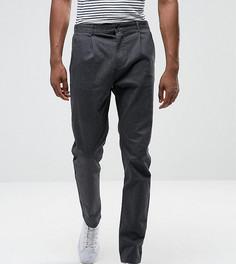 Зауженные брюки со складками Selected Homme TALL - Серый