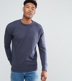 Свитшот с заниженной линией плеч Selected Homme TALL - Темно-синий