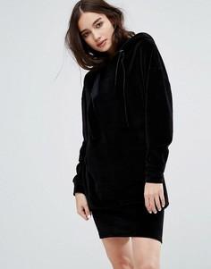 Велюровое оверсайз-платье Uncivilised - Черный