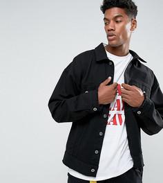 Черная свободная джинсовая куртка с необработанным краем Granted - Черный