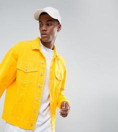 Желтая джинсовая куртка свободного кроя Granted - Желтый
