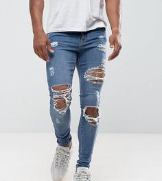Рваные джинсы скинни Granted - Синий