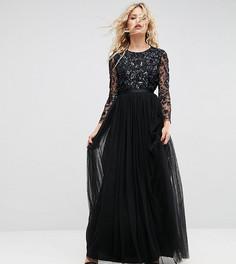 Декорированное платье с длинными рукавами Needle & Thread - Черный