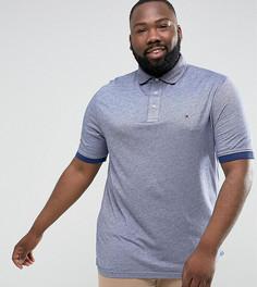 Синяя футболка-поло узкого кроя с логотипом Tommy Hilfiger PLUS Boris - Синий