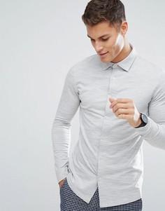 Трикотажная рубашка узкого кроя Selected Homme - Серый
