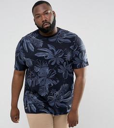Темно-синяя футболка классического кроя с цветочным принтом Tommy Hilfiger PLUS Igy - Темно-синий
