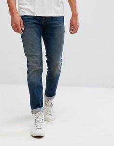 Прямые джинсы из выбеленного итальянского денима Selected Homme - Синий