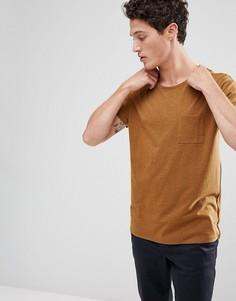 Свободная футболка Selected Homme - Коричневый