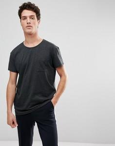 Свободная футболка Selected Homme - Серый