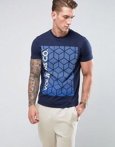 Футболка с геометрическим принтом Voi Jeans - Темно-синий