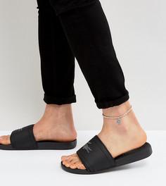 Серебристый браслет-цепочка на ногу с подвеской DesignB London эксклюзивно для ASOS - Серебряный