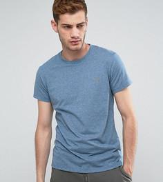 Меланжевая узкая футболка Farah Gloor - Синий