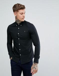 Черная узкая оксфордская рубашка Farah Brewer - Черный