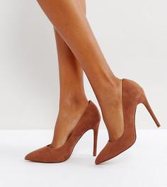 Туфли на высоком каблуке для широкой стопы ASOS PARIS - Коричневый