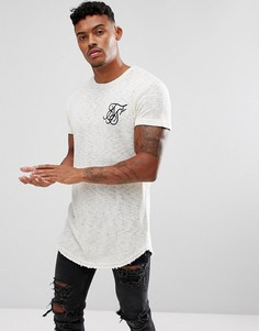 Белая футболка с логотипом SikSilk - Белый